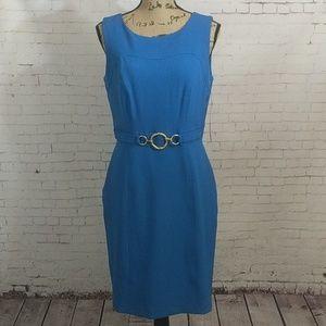 CHETTA B Ocean Blue Sleeveless Dress